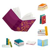 Vector illustration of library and bookstore  icon. Collection of library and literature  vector icon for stock. Isolated object of library and bookstore vector illustration