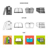 Isolated object of library and textbook logo. Collection of library and school stock symbol for web. Vector design of library and textbook icon. Set of library vector illustration