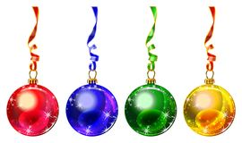 Multi colored Christmas balls Stock Image