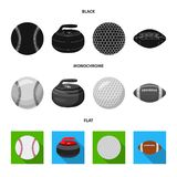 Isolated object of sport and ball sign. Set of sport and athletic vector icon for stock. vector illustration