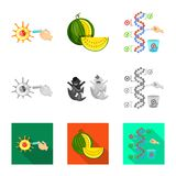 Vector illustration of test and synthetic sign. Set of test and laboratory stock vector illustration. Isolated object of test and synthetic logo. Collection of vector illustration