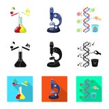 Vector illustration of test and synthetic icon. Set of test and laboratory stock symbol for web. Isolated object of test and synthetic symbol. Collection of stock illustration