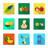 Isolated object of test and synthetic symbol. Collection of test and laboratory vector icon for stock. Vector design of test and synthetic sign. Set of test and royalty free illustration