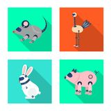 Isolated object of toy and science logo. Set of toy and toy vector icon for stock. stock illustration