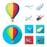 Isolated object of transport and object icon. Collection of transport and gliding vector icon for stock. vector illustration