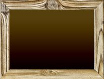 Isolated object. Wooden frame with black background, blackboard or school board isolated on white. Copy space for your text. Free Stock Images