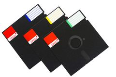 Isolated objects: floppy disks Stock Photo