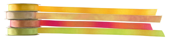 Isolated objects: ribbons royalty free stock images