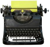 Isolated obsolete vintage typewriter. With cyrillic keyboard Stock Photography