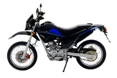Isolated_off-road_bike photo stock