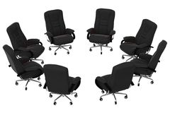 Isolated office armchairs 05. Rendered office armchairs vector illustration