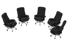 Isolated office armchairs 06. Rendered office armchairs stock illustration
