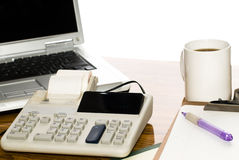 Isolated Office Desk Royalty Free Stock Image
