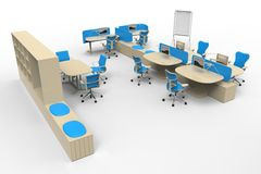 Isolated Office Furniture Stock Image