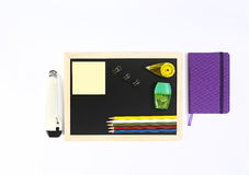 Isolated office tools. Office tools on white background Stock Photo