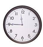 Isolated office wall clock Stock Photos