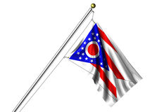 Isolated Ohio Flag Royalty Free Stock Images