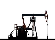 Isolated oil pump on a white background. Extracting oil Stock Photos