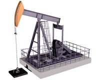 Isolated Oil Rig Stock Photography