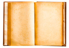 Isolated old antique vintage book. For your text Royalty Free Stock Image