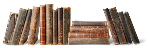 Isolated Old Books Royalty Free Stock Image