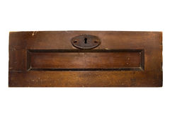 Isolated old chest door. Royalty Free Stock Photography