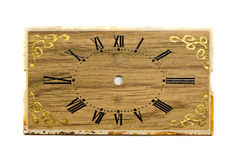 Isolated old clock dial background Royalty Free Stock Photos