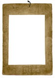 Isolated Old Damaged Photo Frame Stock Photography