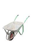 Isolated old dirty wheelbarrow Royalty Free Stock Photography