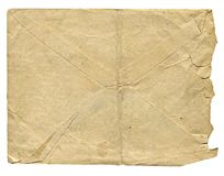 Isolated old envelope for letter. Old envelope for letter stock photography