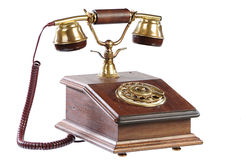 Isolated old-fashioned phone Royalty Free Stock Image