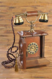Isolated old-fashioned phone with open disk panel Royalty Free Stock Image
