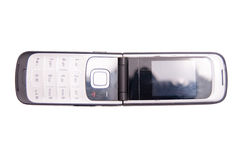 Isolated old flap phone Stock Photography