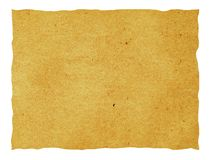 Isolated old paper sheet Stock Image