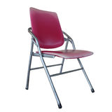 Isolated the old red chair overwhite backgroung - clipping path Royalty Free Stock Photography