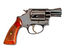 Isolated old revolver handgun Stock Image