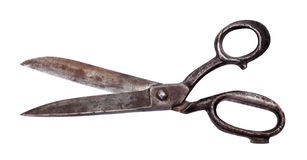Isolated old scissors Stock Photography