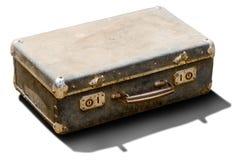 Isolated old suitcase Stock Photo