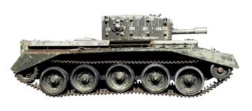 Isolated old tank royalty free stock photography