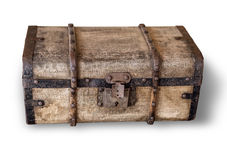Isolated old trunk. On white background with clipping path Royalty Free Stock Photos