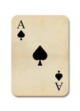 Isolated old vintage aces card Stock Image