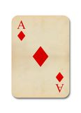 Isolated old vintage aces card Stock Photo