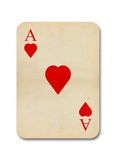 Isolated old vintage aces card Stock Images