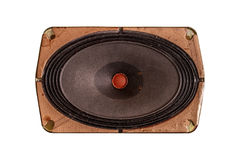 Isolated Old Vintage Music Dynamic Speaker Royalty Free Stock Photo