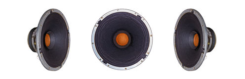 Isolated Old Vintage Music Dynamic Speaker Stock Photography