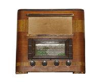 Isolated Old Vintage Wooden Box Radio Royalty Free Stock Photos