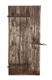 Isolated old wooden rustic stable door. stock photo