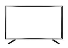 Isolated OLED flat smart TV on white background Royalty Free Stock Photos