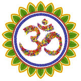 Isolated om sanskrit symbol Stock Photos