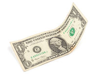 Isolated one dollar banknote Stock Photo
